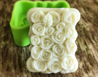 Flexible Silicone Rose Soap Molds Candle Cake Chocolate Molds - 80g
