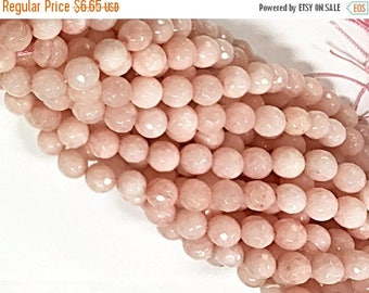 "25% OFF 8mm Pale Dogwood Jade - Round Gemstone Beads, Pantone 2017 15"" Strand, 47 pcs, Pink Gemstone beads - SJA159"