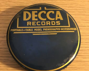 Decca Records Celluloid Phonograph Record Cleaner