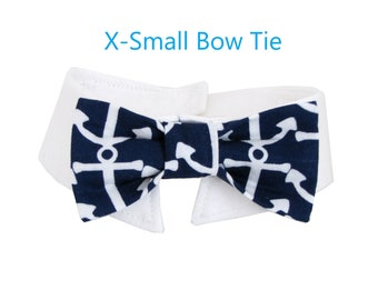 Anchor Bow Tie, Necktie, or Bow on a Shirt Style Collar for both Dogs & Cats