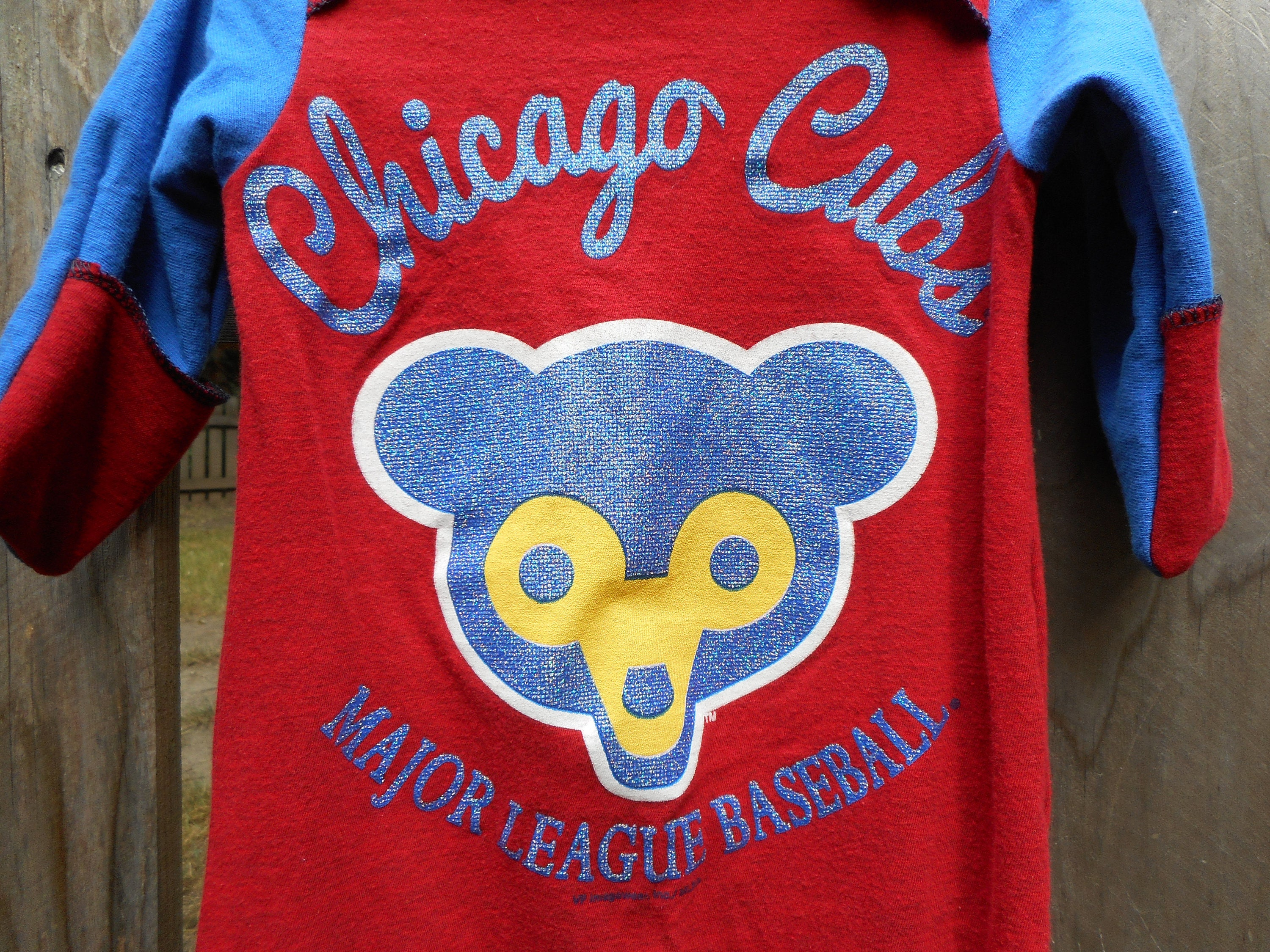 Chicago Cubs Baby Baseball MLB Infant Upcycled recycled t shirt Gown