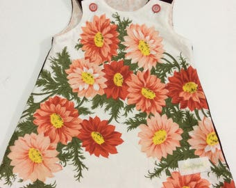 Vintage tablecloth pinafore dress size 4