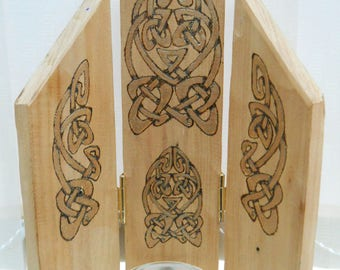 Candle Triptych -  Celtic Knots - Three Part Screen