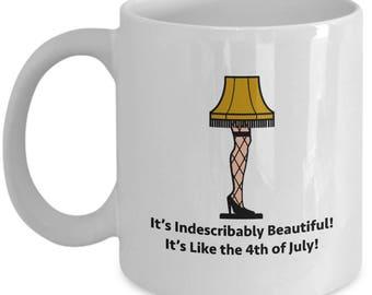 Christmas Story Leg Lamp Beautiful Funny Gift Mug Coffee Cup Movie Old Man