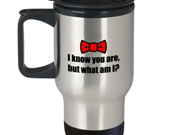 Pee Wee Herman I Know You Are But What Am I Funny Gift Travel Mug Coffee Cup