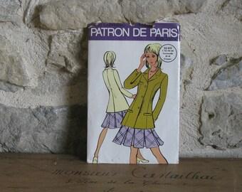 1980s French sewing pattern for blazer jacket, Patron de Paris 55615