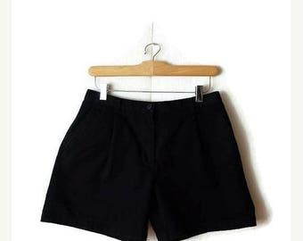 ON SALE Ralph Lauren Black Cotton Shorts from 90's/W27*