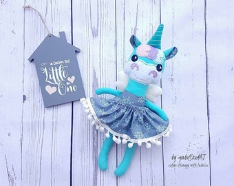 Fabulous Unicorn-Dress up-Softy-For toddlers,preschoolers-Birthday-Present-Handmade-Clothdoll-Ragdoll-With skirt-For girls