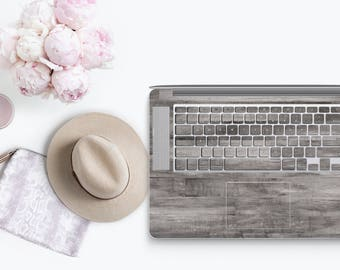 Wood Gray - KeyCal Skin Decal & Ultra Thin Keyboard Protector for MacBook Pro Retina , Macbook Air , Macbook Pro 2016