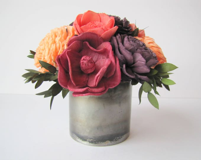 Small Fall Flower Arrangement - Keepsake Sola Flower Arrangement - Keepsake Centerpiece - Home Decor Flowers