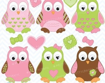 80% OFF SALE Owl clipart commercial use, vector graphics, digital clip art, digital images  - CL374