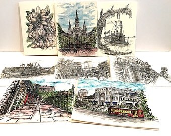 New Orleans Notecards Series #1