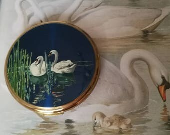 Vintage Stratton Swan Compact
