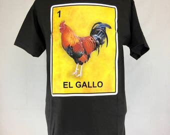 LOTERIA - EL GALLO mexican pop art inspired silk screen graphic tee