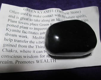 Rare Deep Green Kyanite - Astral travel, nature spirits
