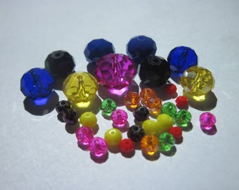 33 mixed colors (PV58-5) glass pearls
