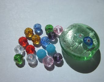 17 (N11) multicolored glass beads
