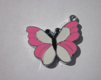 shape of colorful metal Butterfly charm 21 x 25 mm (D2)