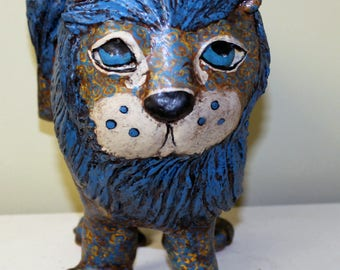 Paper Mache Clay Lion Sculpture - Simba