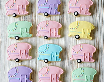 Mini Camper Sugar Cookies -  2 Dozen Mini Cookies , RV Cookies, Camper Cookies, Travel Cookies
