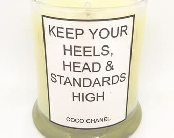 Coco Chanel - Quote - Handcrafted Soy Candle