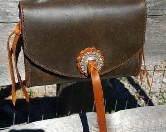 Leather Adventure Bag, Belt Bag, Leather Bag