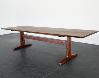 Oregon Walnut Trestle Table