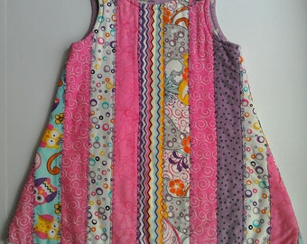 Lined and quilted Jelly Dress age 3 years