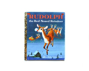 Rudolph the Red-Nosed Reindeer | A Little Golden Book | Vintage Christmas Book | Second Printing 1979 | vintage children's book
