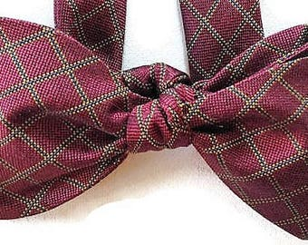 Silk Bow Tie for Men - Hallmark - One of-a-Kind, Handtailored, Self-tie - Free Shipping
