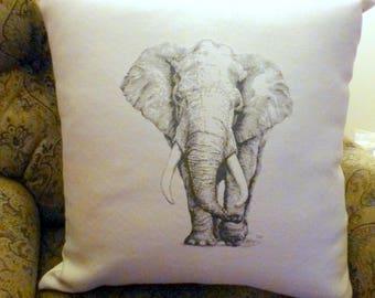 Elephant Pillow cover - Extra Large floor pillows - Accent pillow covers - pillow covers - African Pillows - 24x24 floor cushion cover