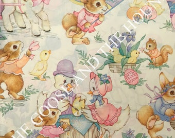 Easter gift wrapping etsy vintage gift wrapping paper easter paper animal easter party by hallmark 1 unused negle Image collections