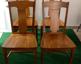 Mid Century Style Pottery Barn wood dining chairs