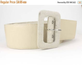 50% OFF Vintage Off White Belt, 35 inches in length, dress up your shirt