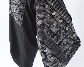 SR0274 Samurai pants with Unique Hilltribe fabric Wrap Around