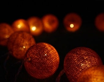 LED cotton balls, Handmade Cotton Ball Lights for home decoration,wedding patio,indoor string lights,bedroom fairy lights