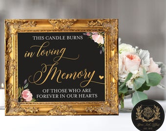 "In Loving Memory of Those Who are Forever in Our Hearts (4 STYLES in 8""x10"" & 11""x14"") DIGITAL PRINT • Memory Chalkboard Sign"