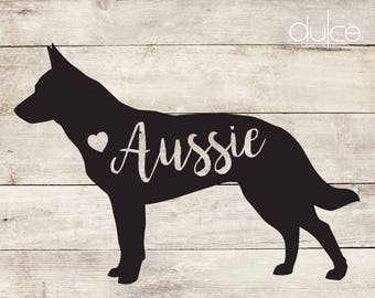Custom Dog Decal Etsy - Custom vinyl decals australia