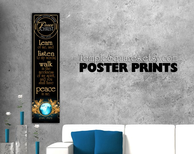 Printed posters Peace in Christ 2018 mutual theme. For Bulletin Board or Class Display or Home Decor Art D&C 19:23