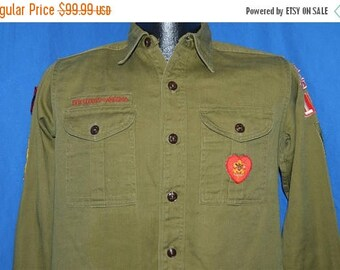 ON SALE 50s Boy Scouts of America Herriman Utah Uniform Shirt Small