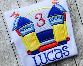 Bouncey house birthday - Bouce castle birthday - Boy jump house birthday - Girl Jump castle - Birthday Bouce - Personalized Birthday shirt