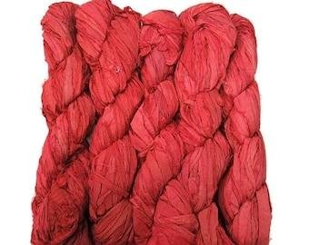 SALE New! Sari Silk Ribbon, 100g , Color: Burnt Orange