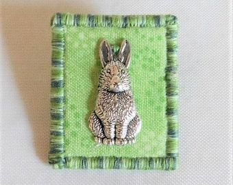 Bunny Fabric Pin
