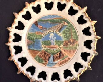 Yellowstone National Park Souvenir plate