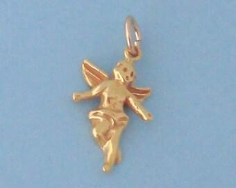 1 Vermeil Gold Angel Charm