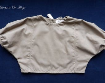 Blouse loose girl in Brown cotton - 3 years