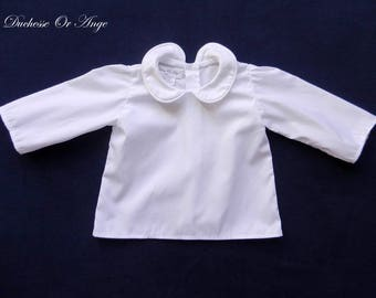 Peter Pan collar with white baby - 6 month shirt