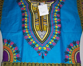 Kids Dashiki Top Light Blue /Handmade Top/Kids Hippie Top/ African Dashiki Top/Cultural Wear
