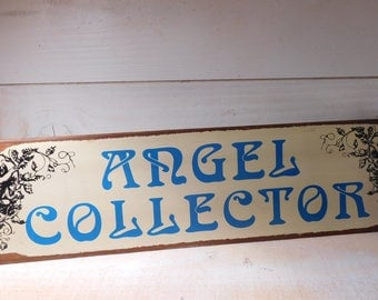Vintage Tin Angel Collector Sign