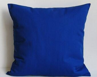 Royal Blue Throw Pillow Cover Cobalt Decorative Throw Accent 16x16 18x18 20x20 22x22 12x14 12x16 12x18 12x20 14x22 American Zipper